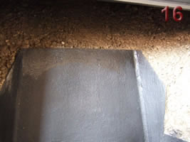 Fill behind with vermiculite