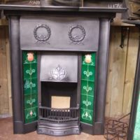 034TC - Edwardian / Art Nouveau Tiled Combination Fireplace