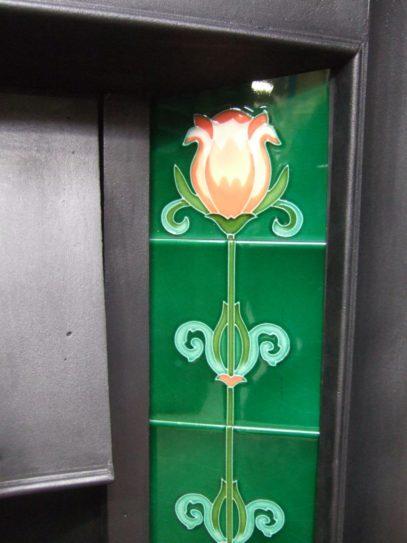 034TC - Edwardian / Art Nouveau Tiled Combination Fireplace