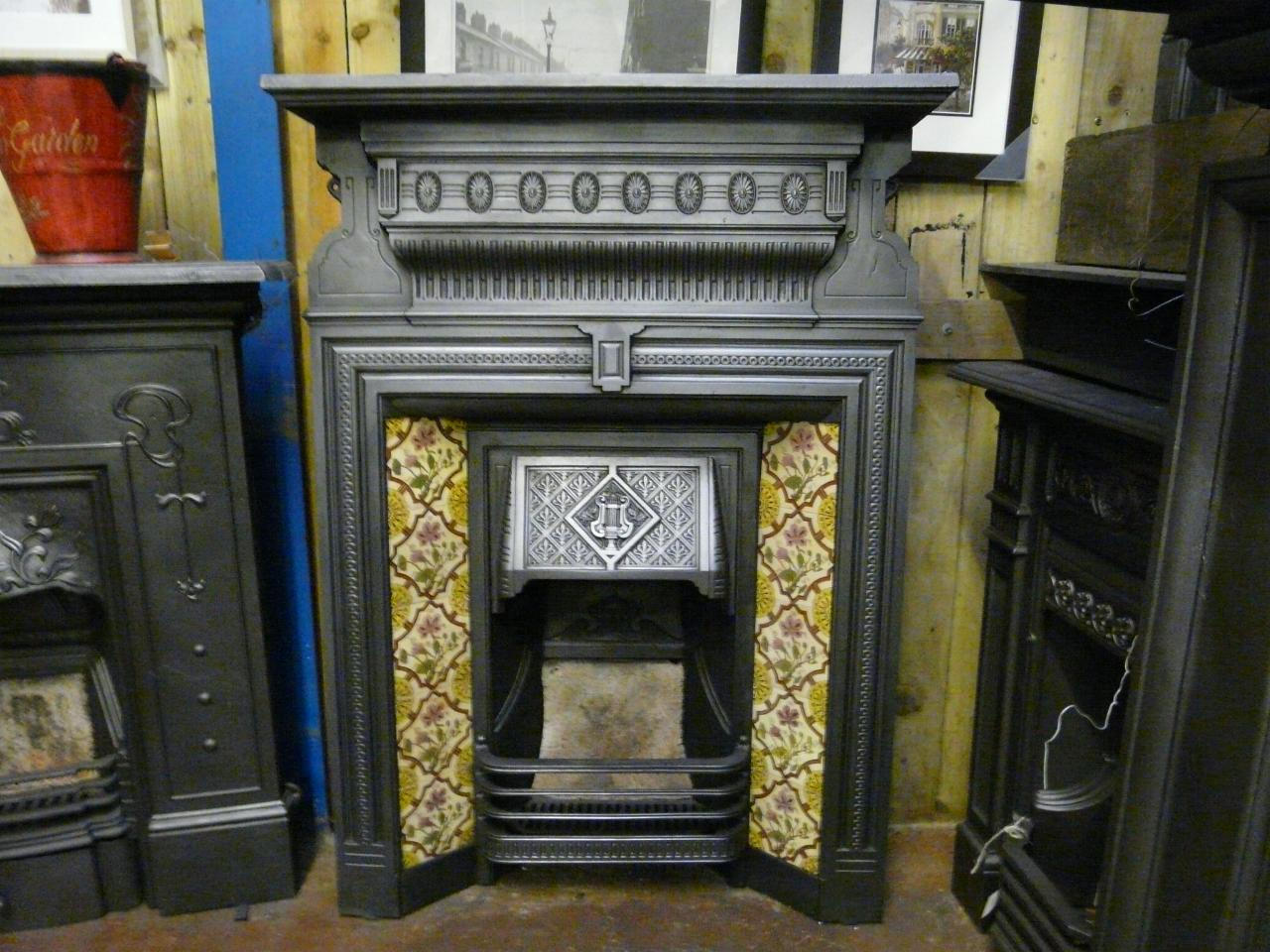 late victorian tiled combination fireplace 049tc old fireplaces