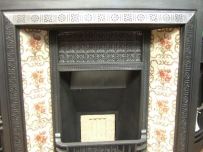 073TI - Victorian Cast Iron Tiled Insert - Doncaster