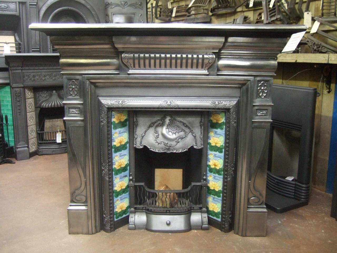 late victorian polished cast iron surround 074cs old fireplaces