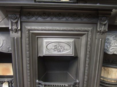 074LC - Victorian Cast Iron Fireplace - Leeds