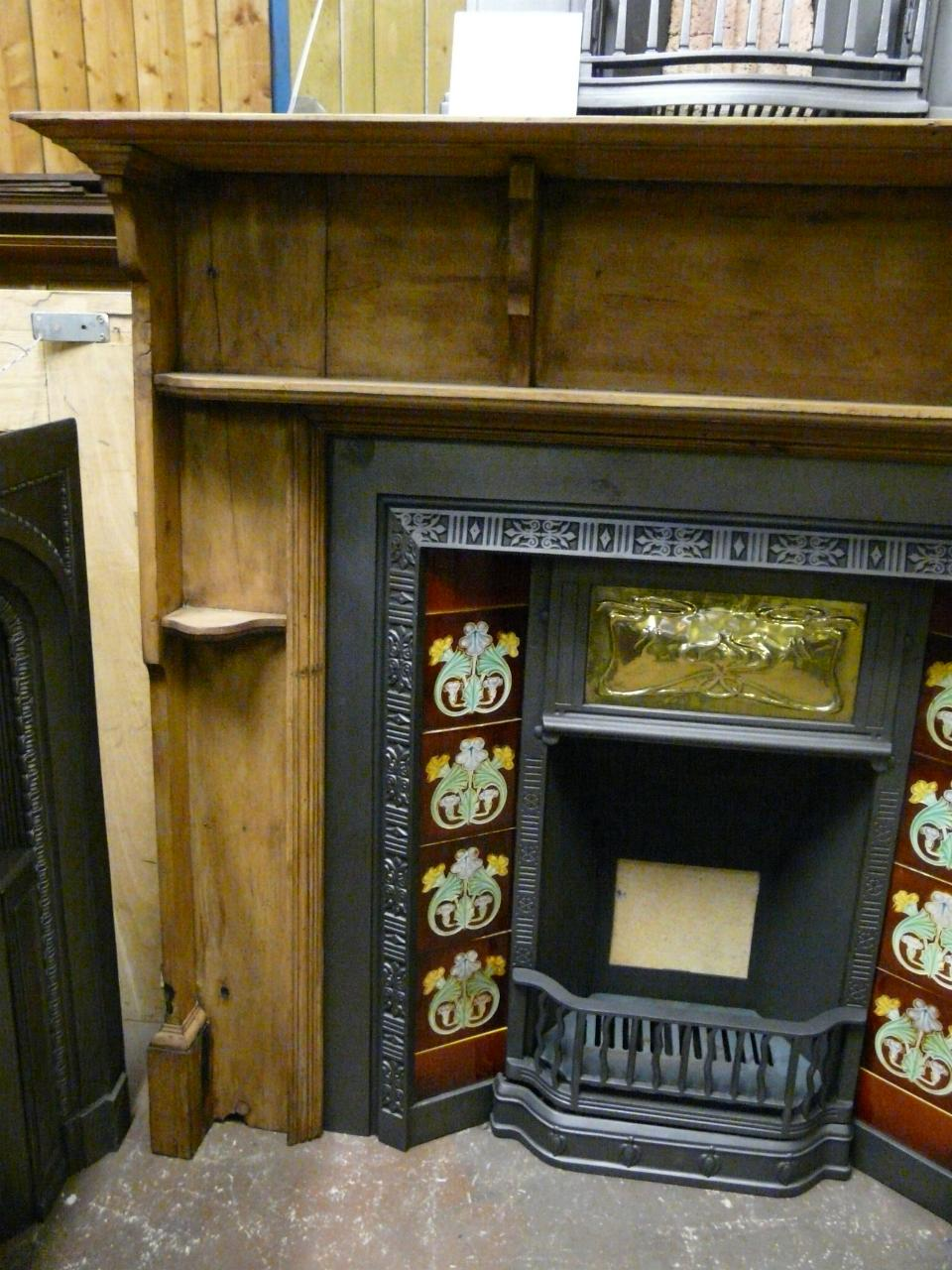 Victorian Pine Fireplace Surround - 096WS - Old Fireplaces