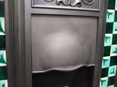 099TC - Original Art Nouveau Tiled Combination Fireplace - Essex