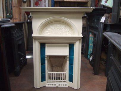 108TC - Cream Arts & Crafts Tiled Fireplace - London