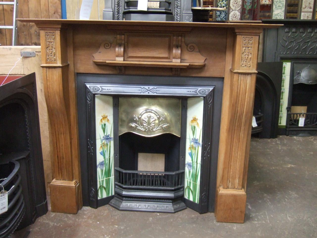 victorian oak fireplace surround cambridge f125ws old fireplaces