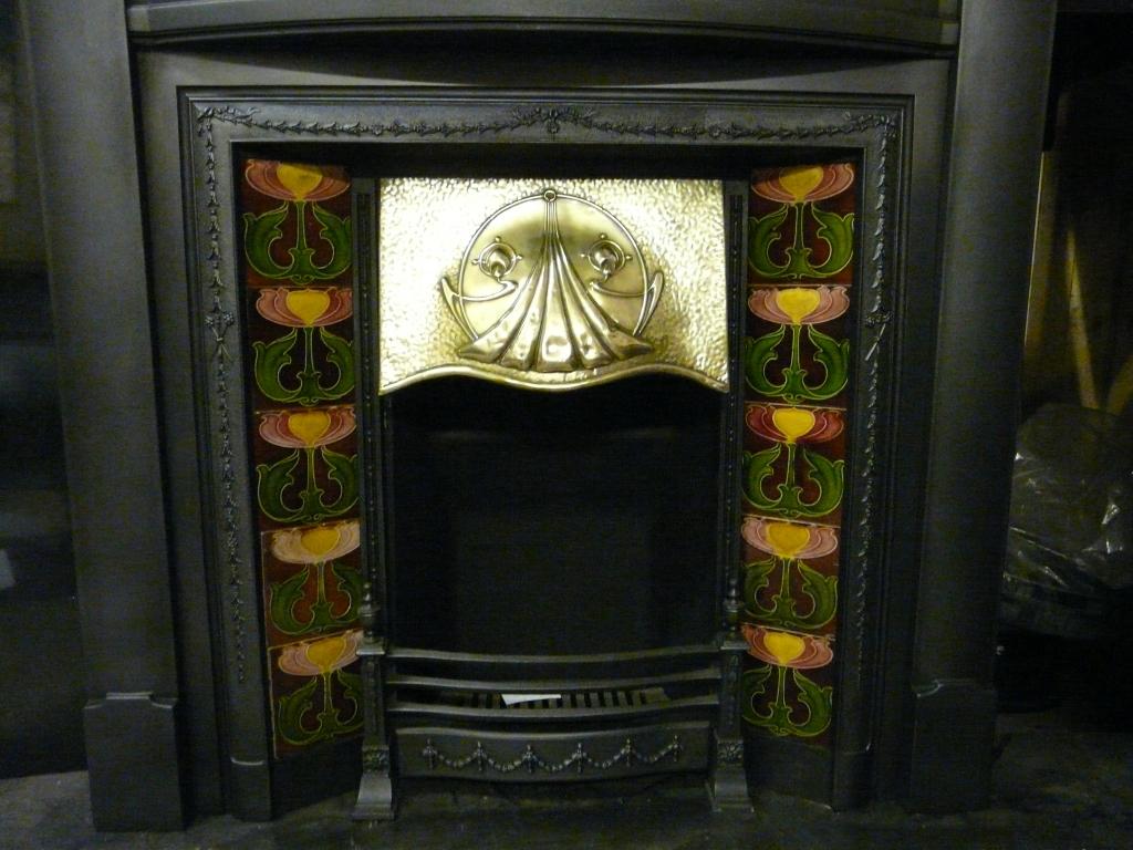 edwardian tiled fireplace