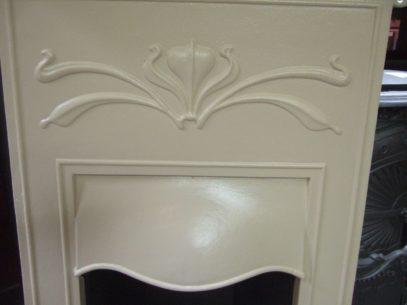 167B - Art Nouveau Bedroom Fireplace in Ivory - Dudley