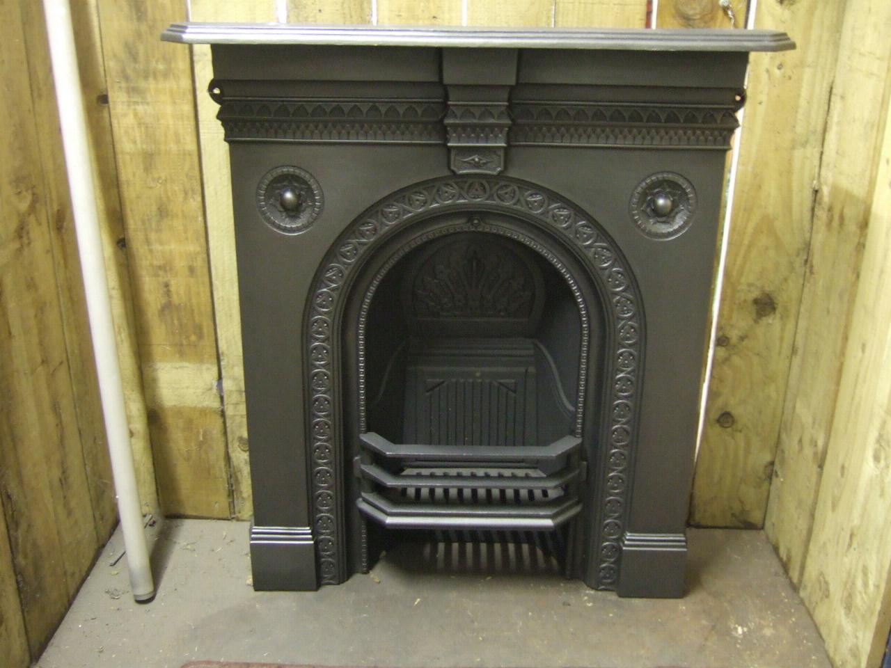 Victorian Cast Iron Fireplace - Stockport - 198MC - Old Fireplaces