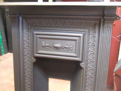 208MC - Original Victorian Cast Iron Fireplace - Birkenhead