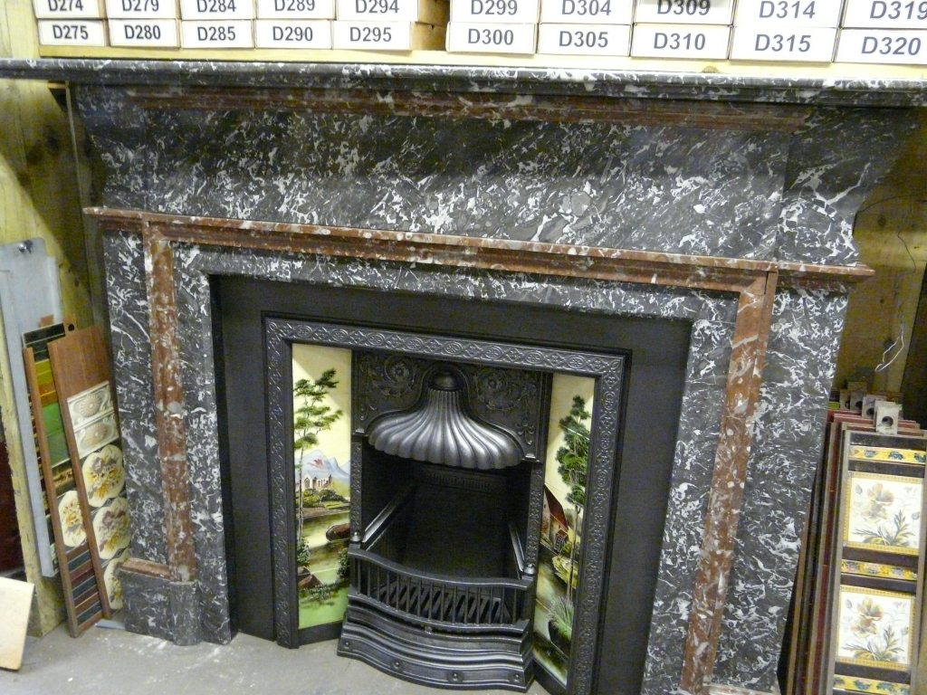184ms Early Antique Victorian St Ann S Marble Fireplace