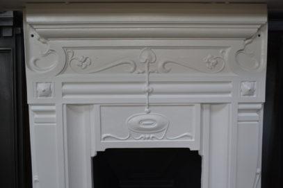 Art Nouveau Cast Iron Fireplace 238MC