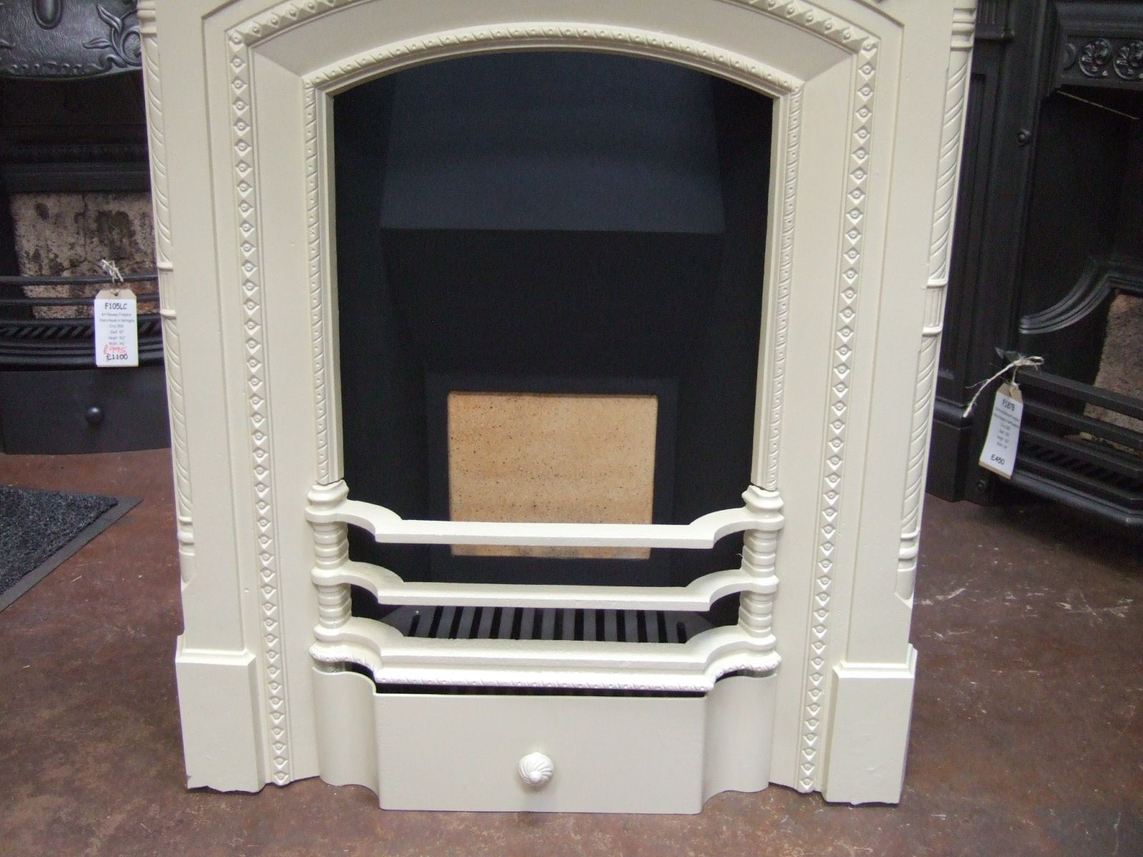 victorian cast iron fireplace wirral 272mc old fireplaces