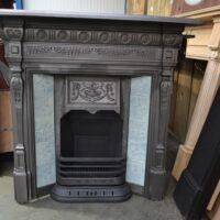 Vintage Victorian Tiled Fireplace 4198TC - Oldfireplaces