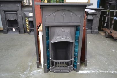 Art Nouveau Tiled Combination Fireplace 4240TC - Oldfireplaces