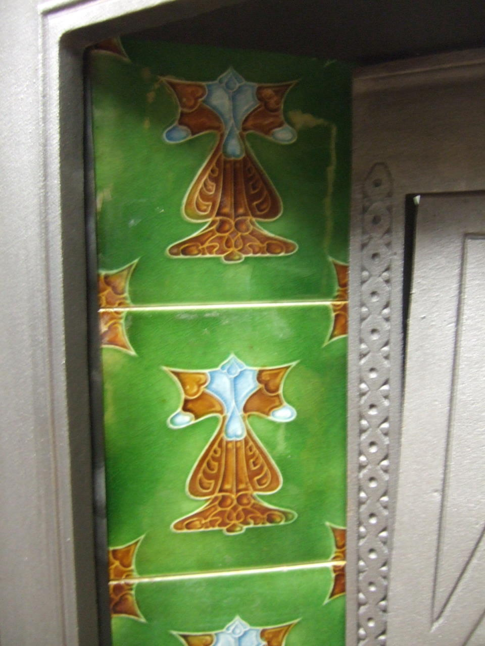 Original Art Nouveau Fireplace Tiles - AN016 - Old Fireplaces