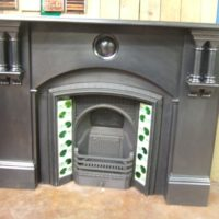 037SS - Original Victorian Slate Fireplace Surround - Birmingham