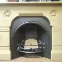 045S - Victorian Gothic Stone Fireplace Surround
