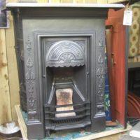 053B - Art Nouveau Cast Iron Bedroom Fireplace