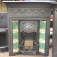 Original Edwardian Tiled Combination Fireplace