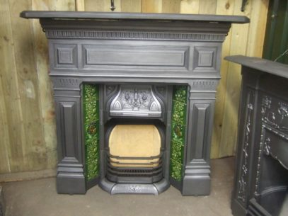 062TC - Antique Victorian Tiled Combination Fireplace