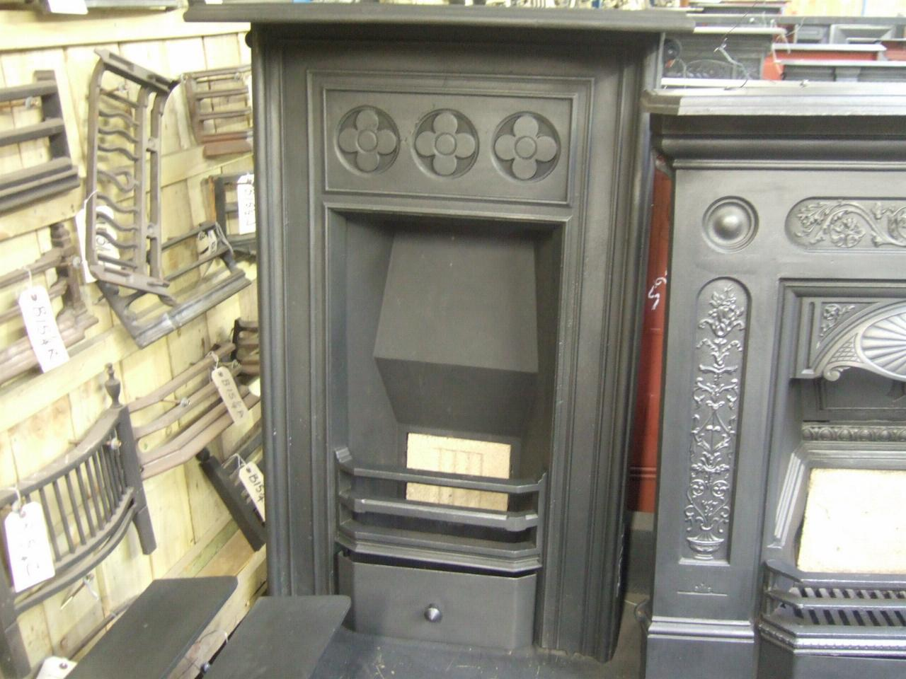 064MC Antique Victorian Cast Iron Fireplace Old Fireplaces