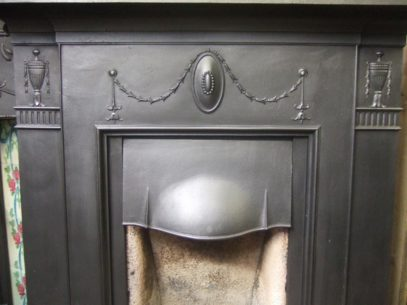 077LC - Cast Iron Victorian Fireplace