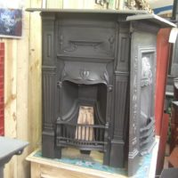 Original Art Nouveau Bedroom Fireplace 83B Oldfireplaces