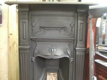 Original Art Nouveau Bedroom Fireplace 83B Oldfireplaces