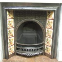 091TI - Antique Victorian Polished Tiled Insert