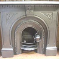 092CS - Victorian Cast Iron Surround & Arched Insert