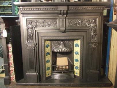 Victorian 'Peace and Plenty' Victorian Cast Iron Fireplace Surround