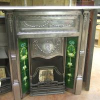 132TC - Fully-Polished Cast Iron Edwardian Tiled Fireplace