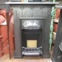 133MC - Art Nouveau Cast Iron Fireplace