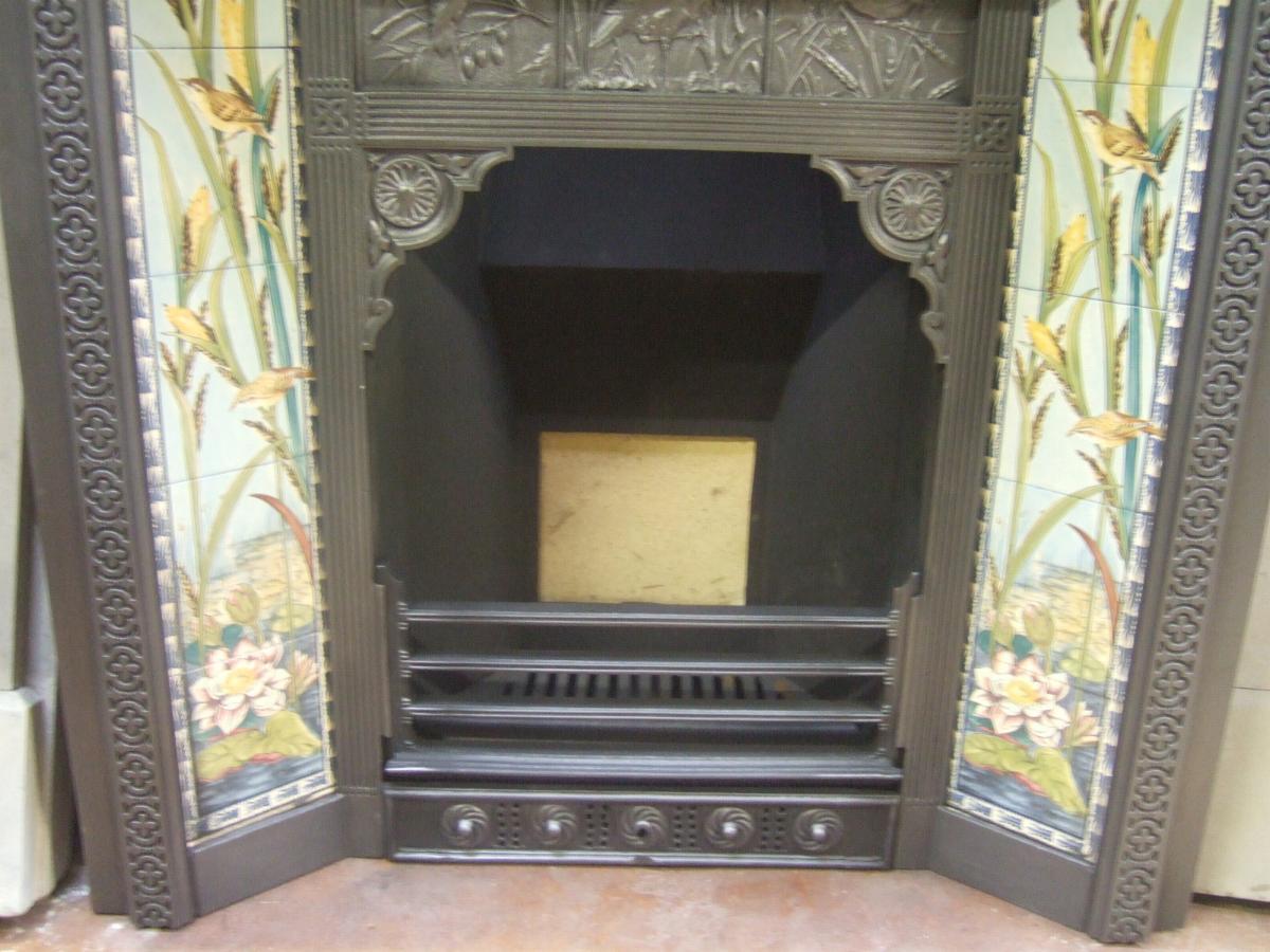 original arts u0026 crafts tiled insert 138ti old fireplaces