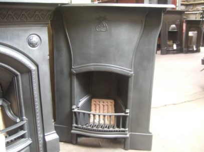 142MC - Original Art Nouveau Cast Iron Fireplace