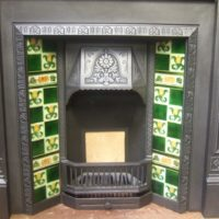 143TI - Reclaimed Victorian / Arts & Crafts Tiled Insert