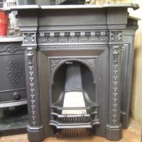 151MC - Mid-Victorian Cast Iron Fireplace