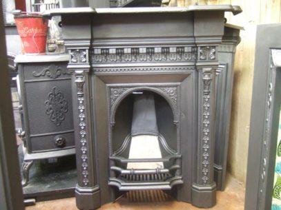 151MC - Mid-Victorian Cast Iron Fireplace