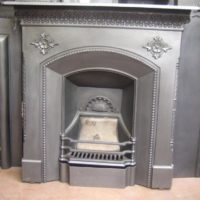 152LC - Original Victorian Cast Iron  Fireplace