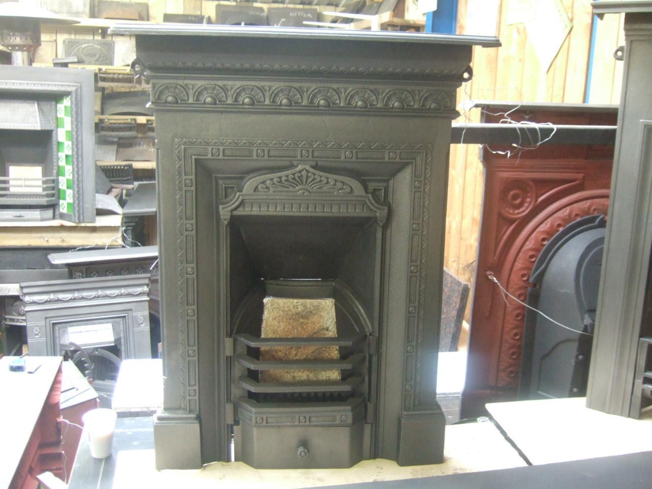 Original Mid Victorian Bedroom Fireplace 154b Old