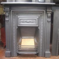158LC - Original Victorian Cast Iron Fireplace