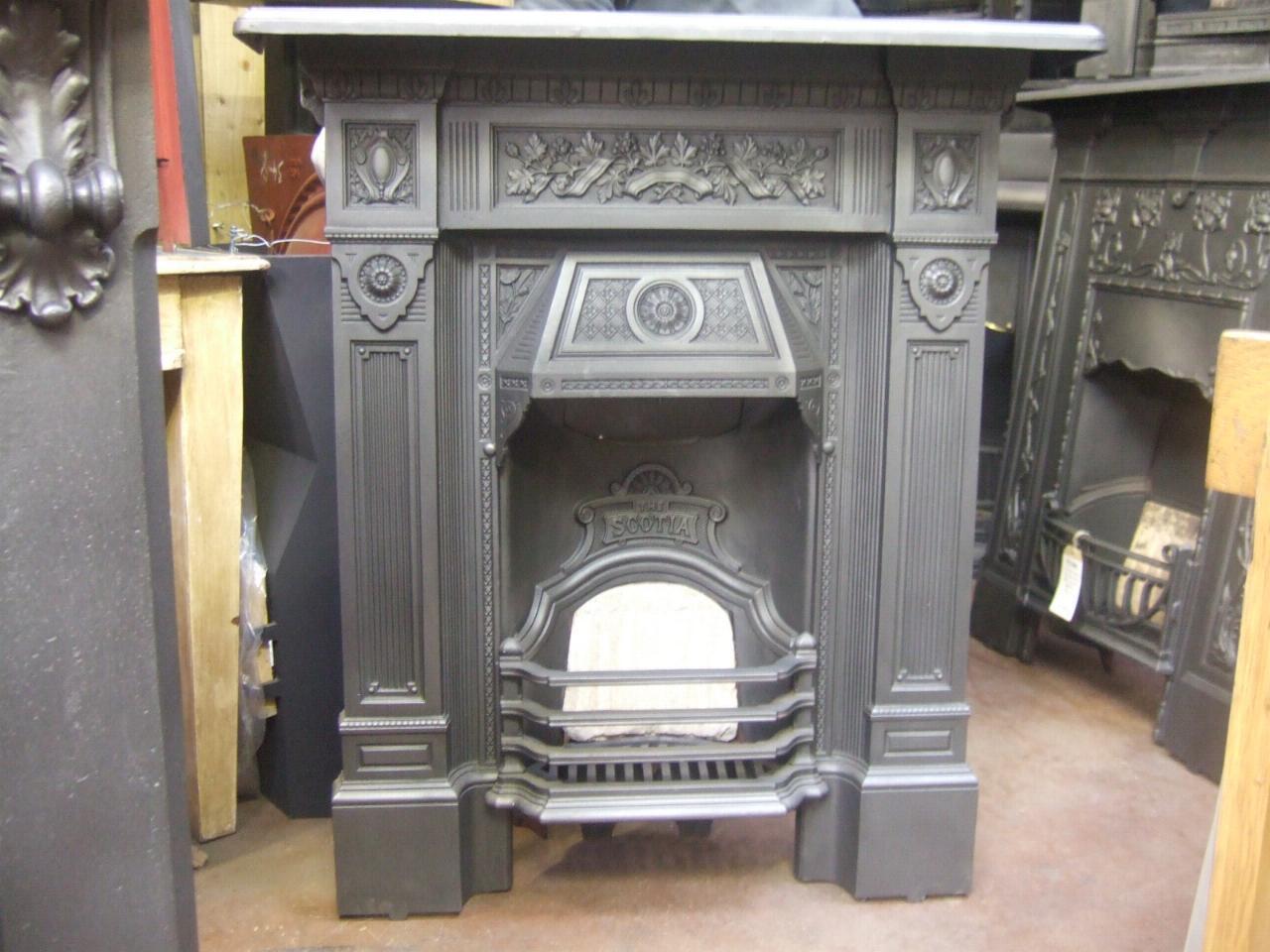 Antique Victorian Cast Iron Fireplace 39 The Scotia 39 160MC