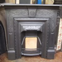 163LC - Original Victorian Cast Iron Fireplace