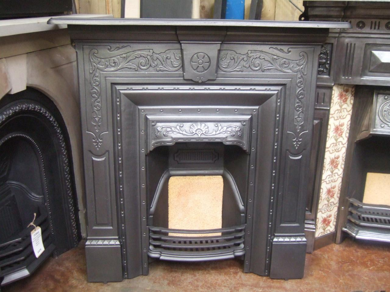 Original Victorian Cast Iron Fireplace - 163LC - Old Fireplaces