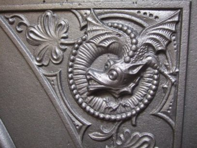 185LC - Victorian / Arts & Crafts Cast Iron Fireplace
