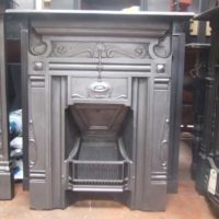 205MC - Original Art Nouveau Cast Iron Fireplace