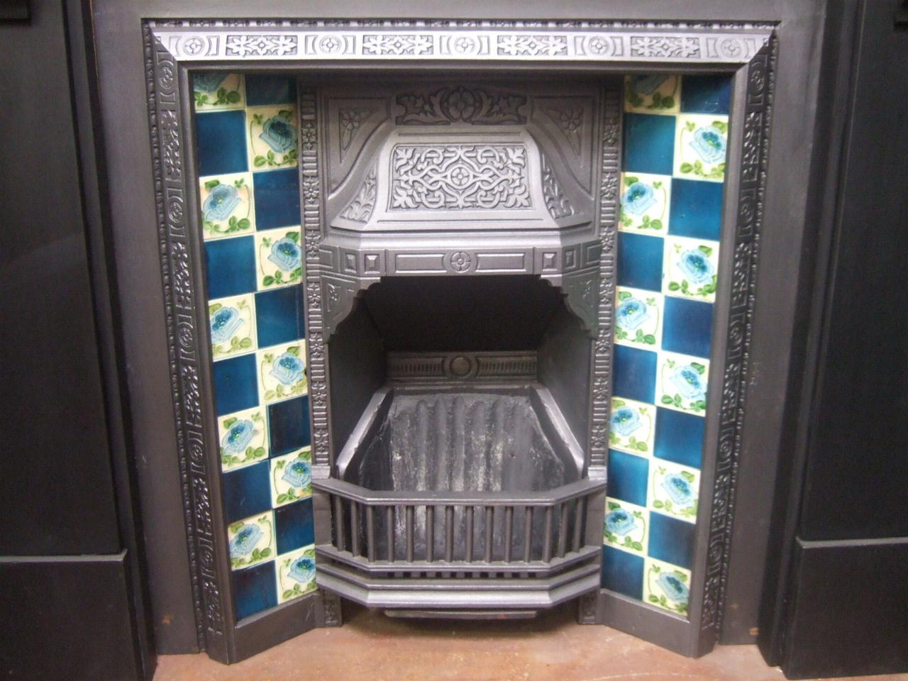 Victorian Cast Iron Tiled Insert 217ti Old Fireplaces