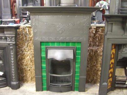 233TC - Original Edwardian Tiled Combination Fireplace